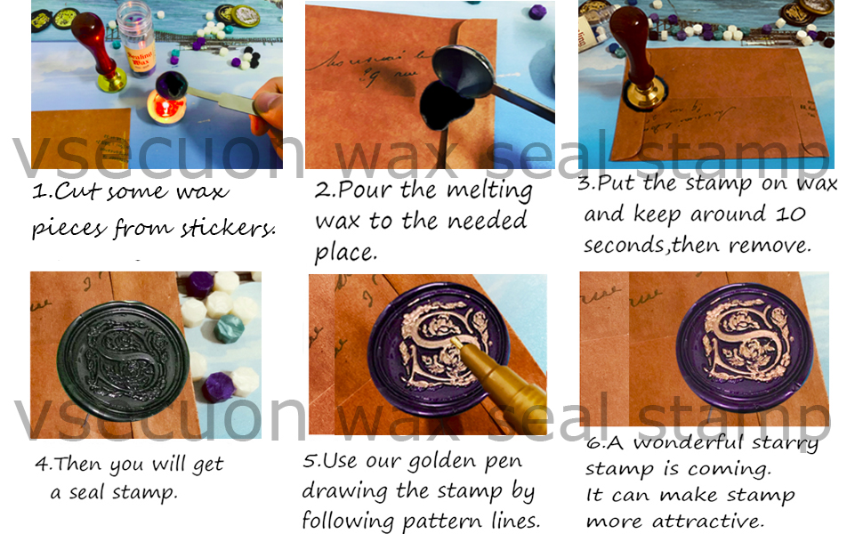 Initial Letter Wax Seal Stamp Kit Wax Stamp Seal Stamp Set