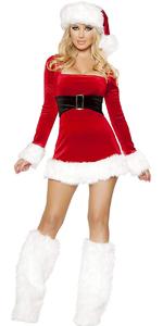 3 Pieces Mrs. Claus Santa Dress