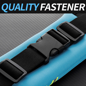 Premium Plastic Buckle & Sturdy Adjustable Strap