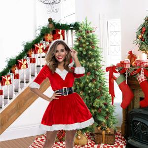 Hooded Christmas costume