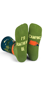 id rather be, fun, socks, camp, camping, men, women, hike, outdoors, nature