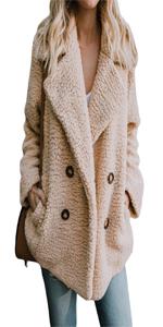 Women Fleece Open Front Cardigan