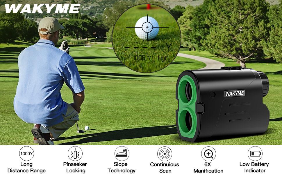 WAKYME 1000 Yard Golf Rangefinder