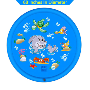 large size water splash mat for kids and adults