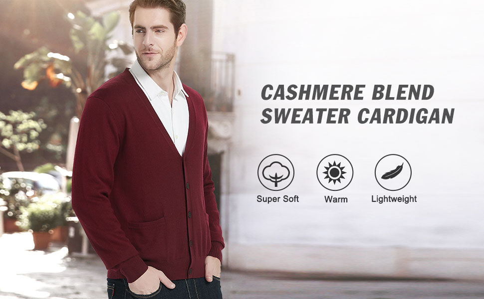 mens sweaters lightweight soft warm cozy cardigan sweaters long sleeve cardigan for fall winter