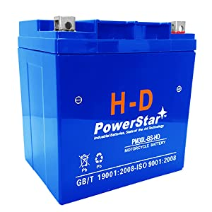 PowerStar PM30L-BS-HD Replaces 30L-BS Battery for Harley Davidson