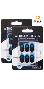 12-Pack Webcam Cover Slide Blocker for Laptop Computer, MacBook Pro, iPad iMac Tablets PC Echo Spot