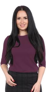 1258 closed neck line 3/4 sleeve modest layer undershirt women kosher