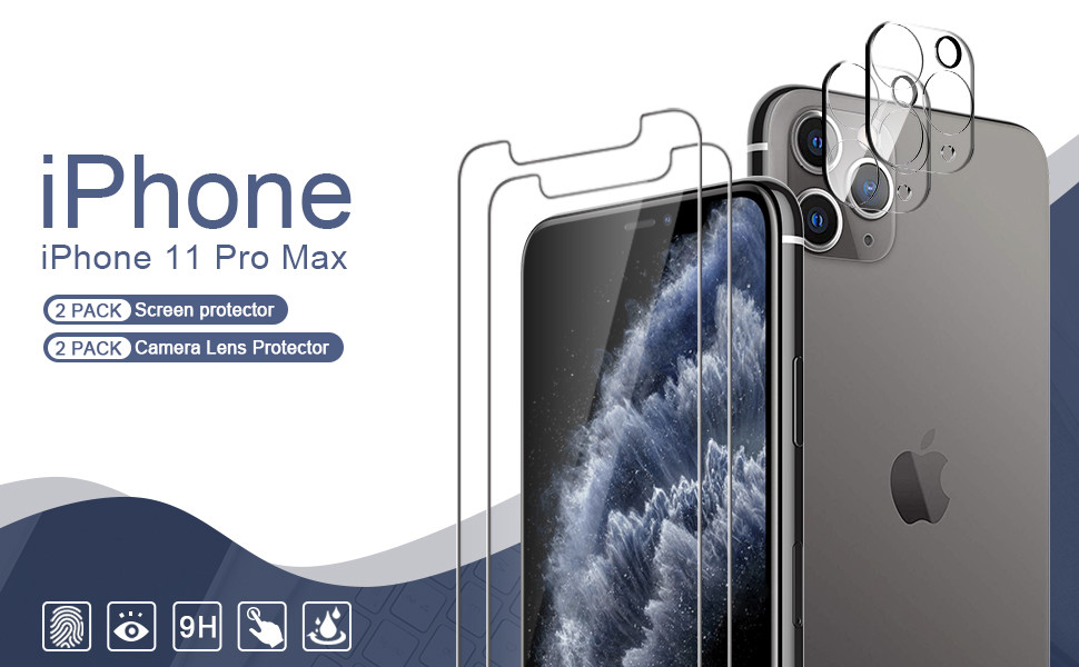 iPhone 11 Pro Max screen protector and camera lens protector