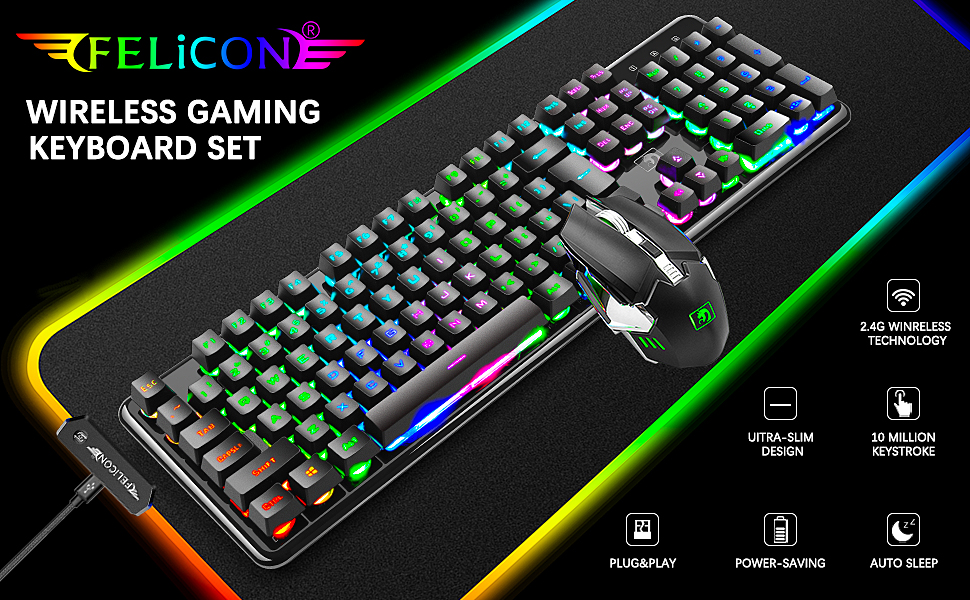 wireless gaming keyboard and mouse combo