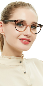 fashion leopard print reader for women eyecat reading glasses with spring hinge