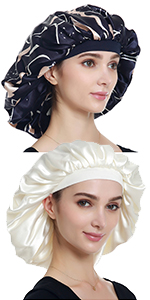 Large Satin Bonnet-Double Layer
