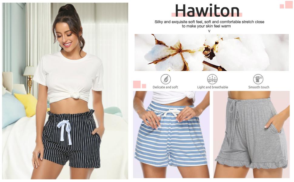 hawiton women pj shorts