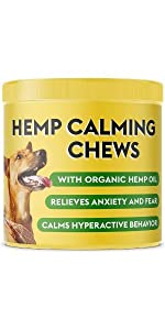 calming hemp treats for dogs anxiety