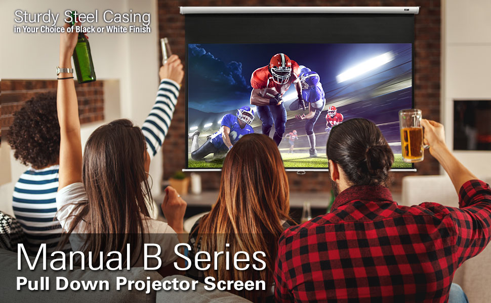 elite screen Manual B pull down projector screen