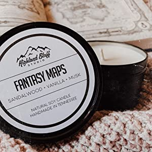 natural soy candle for nerds