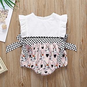 Easter romper bunny bodysuit infant baby girl