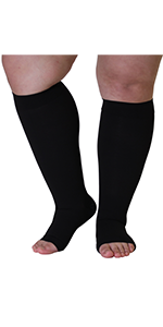 mojo compression knee high opaque open toe