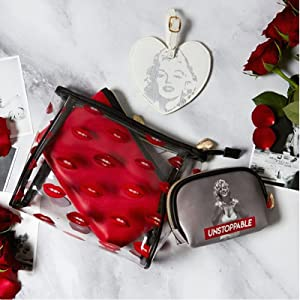 Marilyn monroe cosmetic bags tile