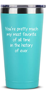 You're Pretty Much - Birthday Gift Ideas for Women Men - 16 oz Mint Insulated Stainless Steel Tumble