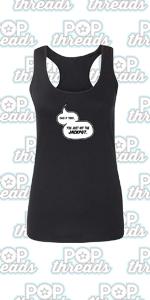 Superhero Movie Comic Book Costume I Love You 3000 Fashion Tank Top Tee for Women