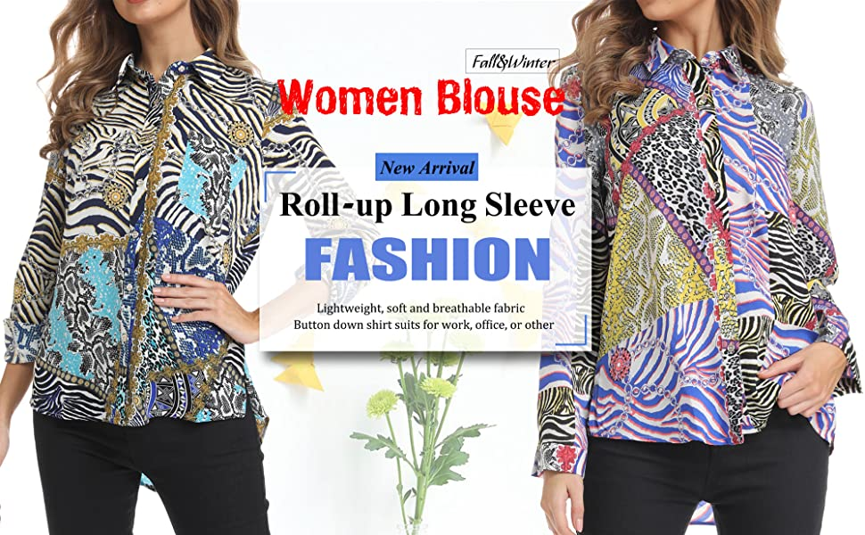 Blouses for Women Fashion 2019,Elegant Shirts 3//4 Sleeve Tops V Neck T-Shirt Ladies Casual Office Work Loose Tops