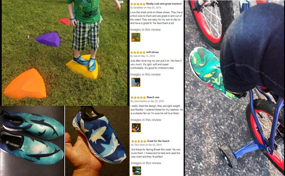 Water Shoes for Boys Girls Kids Aqua Swim Athletic Beach Sport Soft Shoes
