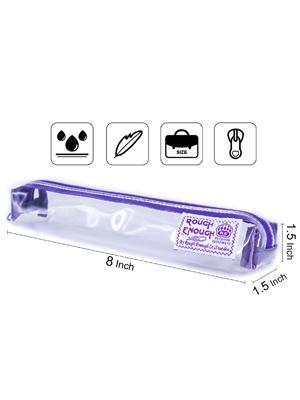 rough enough clear pencil case plastic pencil case small pencil case slim pencil case for kids boys