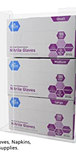 Marketing Holders Glove Holders Holds 3 Boxes of Gloves Wall Mount or Countertop Veterinarian