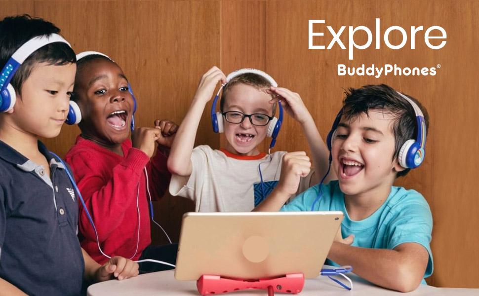 kids children headphones volume safe max db hearing loss certified premium loud quiet smart