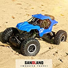 front and rear dual motors provide strong power torque to move on any terrain easily and stably.
