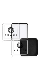 Kraze FX Black and White face paint set