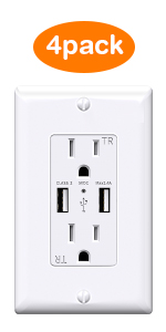 4pack usb outlet