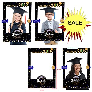 2019 Graduate photo backgroup decoration With The Stars Class of  Social Media Selfie Frame Poster