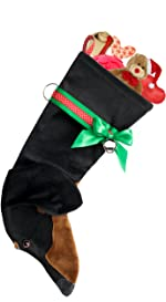 daschund weiner dog pets dog stocking christmas gifts holiday decoration