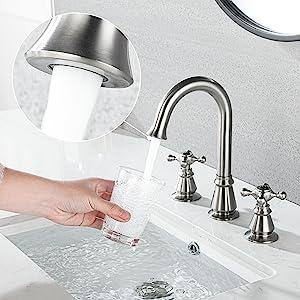 Anpean Two Handle 8 Inch Widespread Bathroom Faucet 3 Holes, Brushed Nickel-3