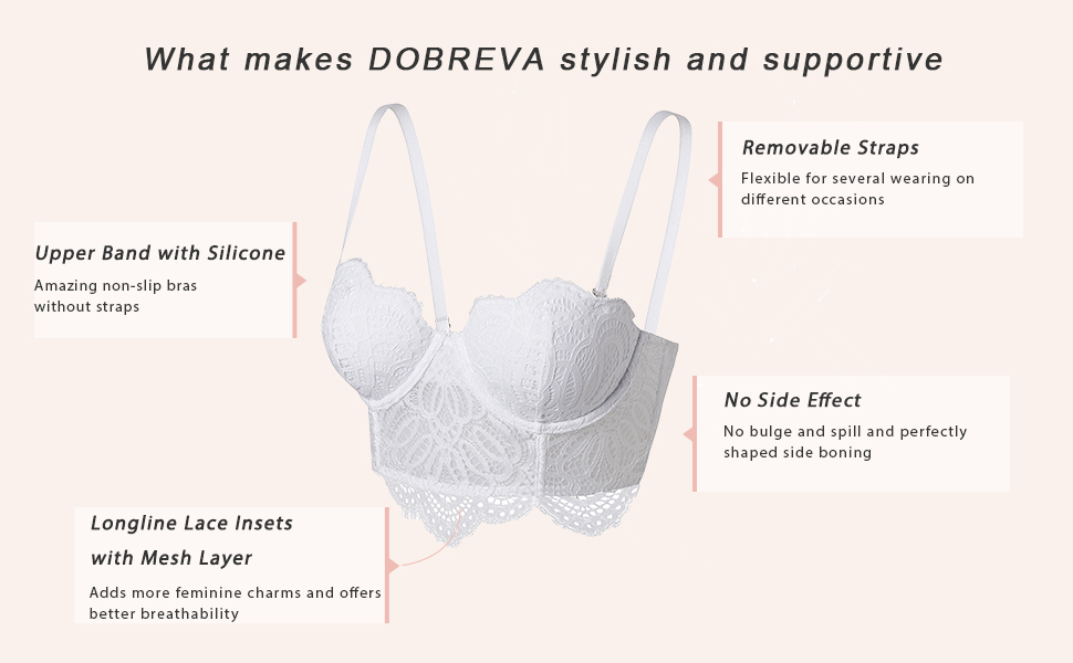 seriously supportive comfort well-shaped underwire padded no side effect side boning holds frame