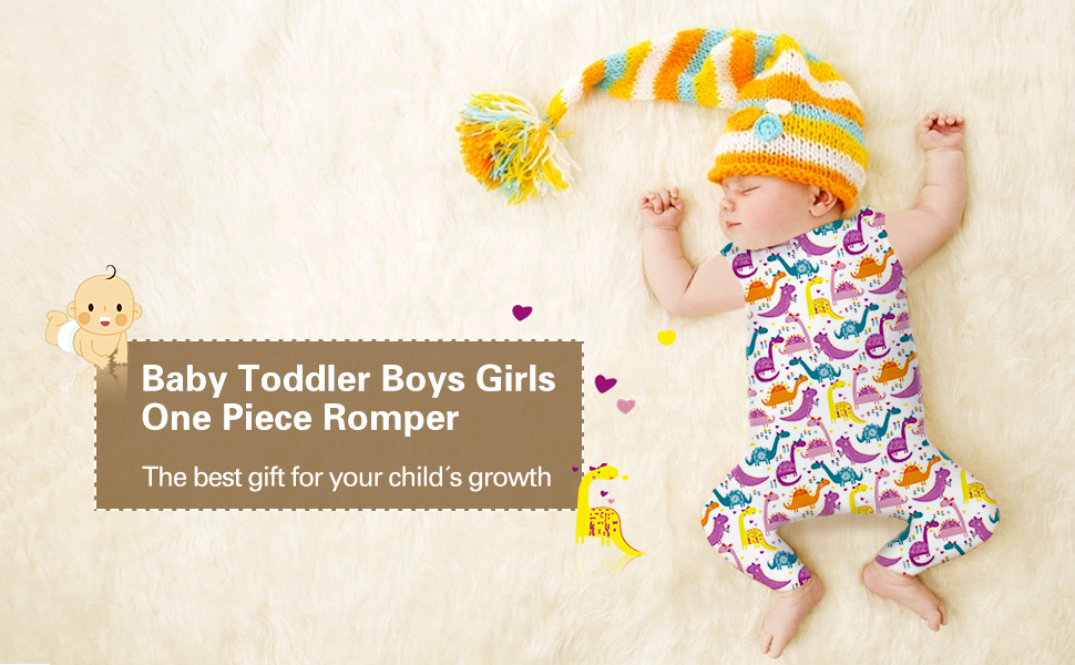 TUONROAD Baby Boys Girls 3d printed romper