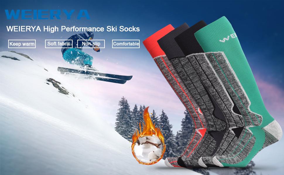 WEIERYA Ski Socks
