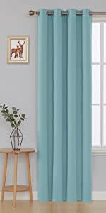 blue blackout curtains