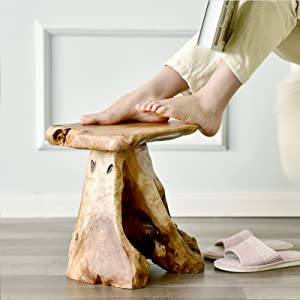 Tree Stump Stool Natural Wood Cedar Live Edge side Table Plant Stand Nightstand Foot Stool