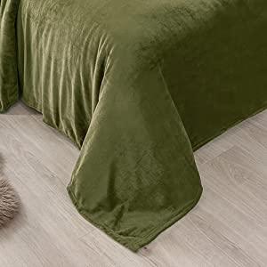Flannel blanket Oliver Green