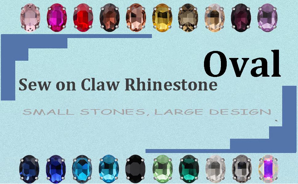 sew on rhinestones in settings