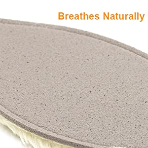 breathable sheepskin insoles