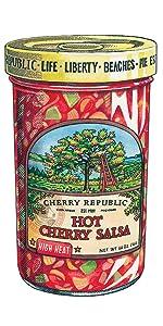 hot cherry salsa Spicy