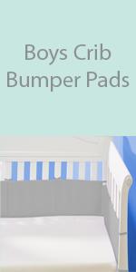 boys crib bumper pad