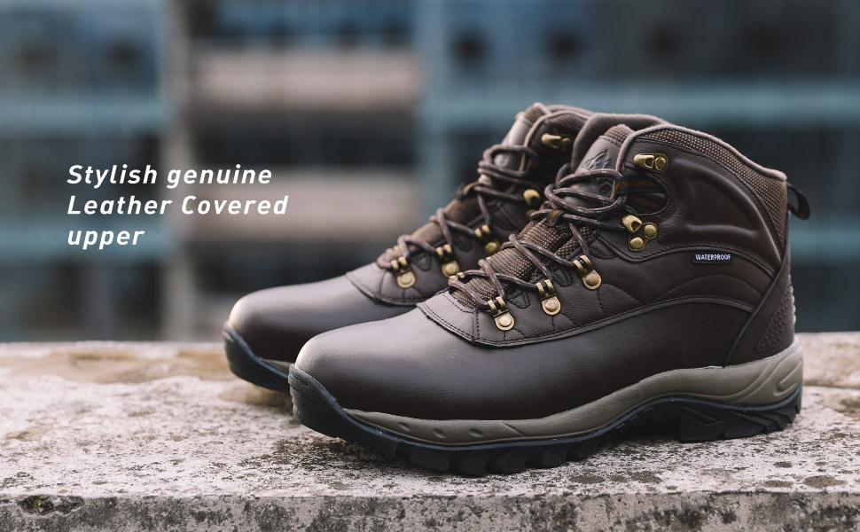 NORTIV 8 Men's Mid Waterproof Outdoor Hiking Work Boots