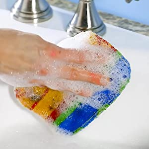scrub soap scum bathroom shower door glass