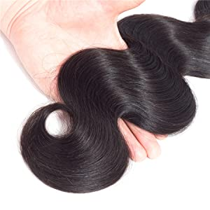 Body Wave Human Hair 3 Bundles with Closure