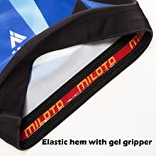 Elastic hem with gel gripper